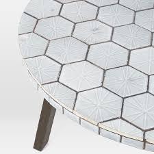 Jackson Bistro Table Mosaic Tiled Bistro Table Spider Web West Elm