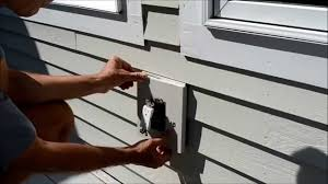 vinyl siding light mount how to replace electrical outlet mounting block video youtube