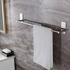bathroom towel bar kes a7000s12 bathroom lavatory 3m self adhesive single towel bar