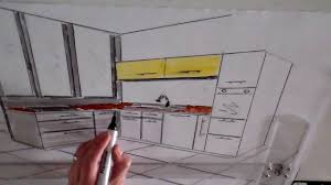dessiner en perspective une cuisine dessin cuisine en perspective architecture d intérieur