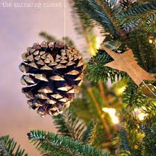 gold brushed pine cone ornaments easy last minute decor the