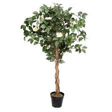 artificial potted camellia tree 122 cm 4 ft silk like