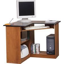 Desktop Computer Desk Orion Corner Computer Workstation Oak And Black Walmart Com