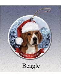 slash prices on beagle howliday dog christmas ornament