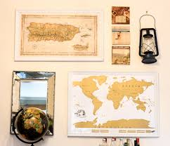 Make Your Own Map How To Make A Diy Frame For Your Gallery Wall