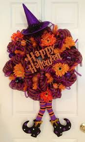 Mesh Halloween Wreath by 146 Best Deco Mesh Halloween Images On Pinterest Halloween