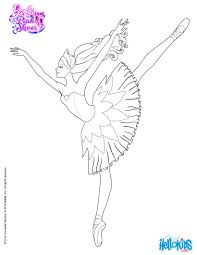 barbie is dancing with the pink shoes coloring pages hellokids com