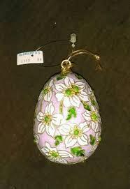 large cloisonné egg christmas hanging ornament enamel cloisonne