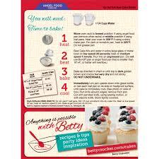 Betty Crocker Halloween Cake Betty Crocker Super Moist Fat Free Cake Mix Angel Food 16 0 Oz