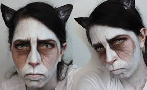 halloween makeup grumpy cat youtube