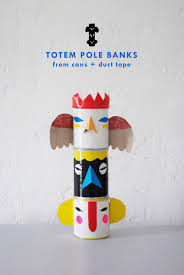 duct tape totem banks fun crafts kids