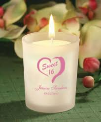personalized candle favors personalized sweet sixteen candle favors price favors