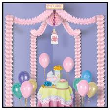 a pink baby shower decoration canopy kit
