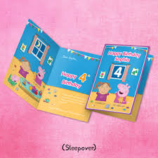 peppa pig birthday personalised peppa pig birthday cards by penwizard