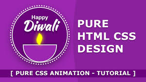 tutorial css design happy diwali pure html css design tutorial html css animation
