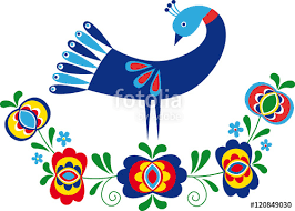 ornament inspired by folk design from south moravia stock image