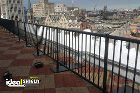 rooftop fall protection railing ideal shield