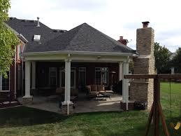 covered patio with fireplace chesterfield mo covered patio makeover poynter landscape