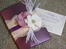 vingage glamour lace wedding invitation plum u0026 blush