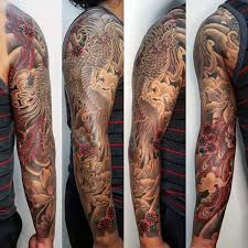 trends black and japanese sleeve ideas