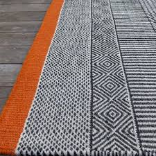 original woven rug tryptik black and white graphic rug edito