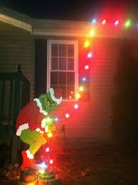grinch christmas lights grinch stealing christmas lights yard easy outdoor christmas
