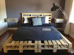 Simple Platform Bed Frame Plans by Simple Wooden Pallet Platform Bed Pallet Furniture Pinterest