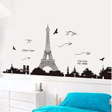 amazon com ussore eiffel tower removable decor environmentally