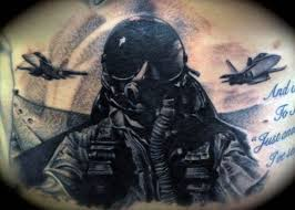 cool fighter pilot air force mens back tattoo ideas tattoos