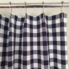 Check Shower Curtain Buffalo Check Shower Curtain Navy Blue And White Southern