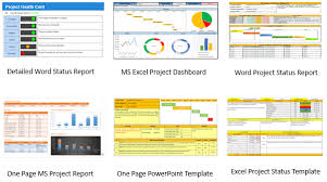 project status report template powerpoint free business template