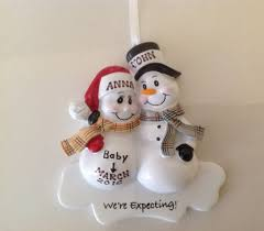 personalized ornament snowman