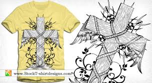 vector vintage winged cross with floral t shirt design vector t