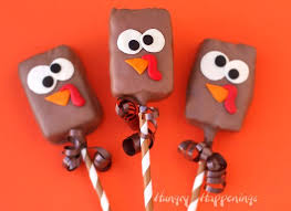 cocoa krispies treat turkeys easy thanksgiving treats