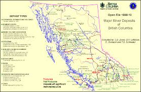 Map Vancouver Canada by Major Silver Deposits In Bc