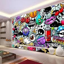 prix graffiti chambre moderne creative graffiti murale chambre salon décor à la