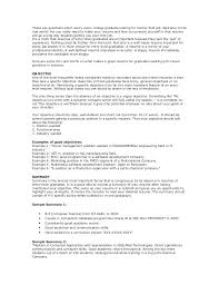 resume objective for management position cover letter good objectives for resumes qhtypm objective resume