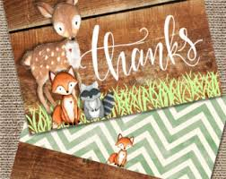 woodland animal card etsy