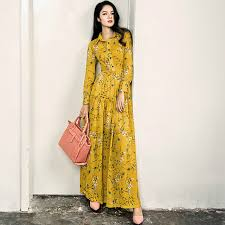 floral dresses floral dress 2017 new fashion yellow print ultra