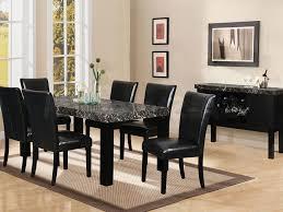 voguish black dining room set homeophony