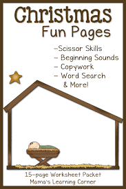 christmas fun pages free 15 page worksheet set mamas learning