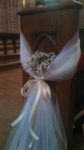 pew decorations for weddings church pew decorations this was so easy to do with some