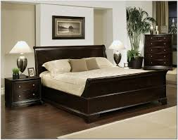 cal king size faux black leather upholstered bed frame with memory