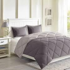 Down Alternative Comforter Sets Navy U0026light Blue Windsor Reversible Microfiber Down Alternative