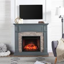 Electric Media Fireplace Southern Enterprises Conway 45 75 In W Electric Media Fireplace