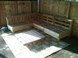 Diy Pallet Patio Furniture - incredible outdoor furniture design with l shape diy pallet bench