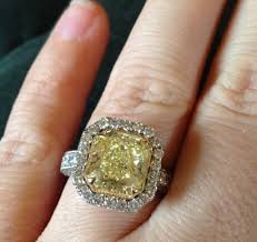 canary engagement ring clarkson s 5 carat yellow canary ring the
