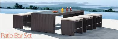 Patio Bar Tables Entertain At Home With A Patio Bar Set Home Furniture And Patio