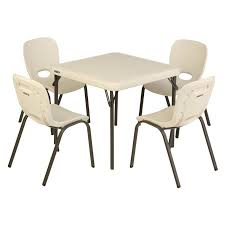 Children S Chair And Table Lifetime Childrens 5 Piece Square Writing Table And Chair Set