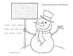 6 easy christmas word search printables